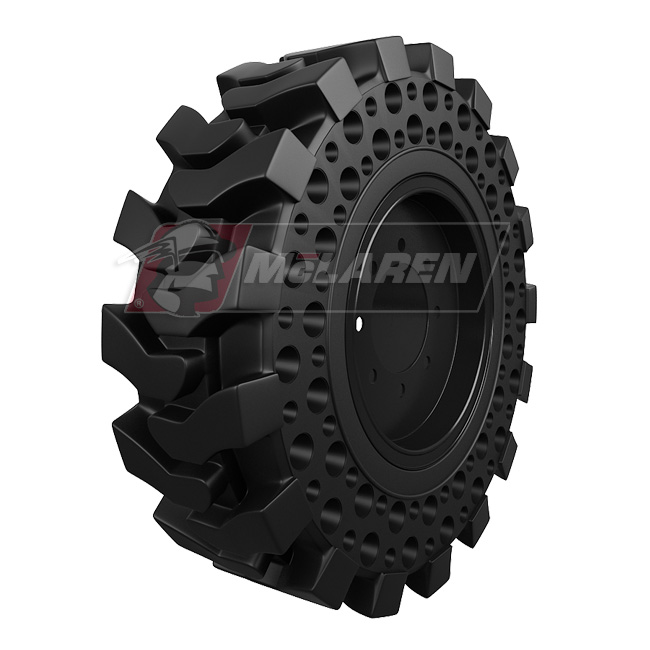 New Holland Tire Rims : New holland ls solid cushion tires over the tire