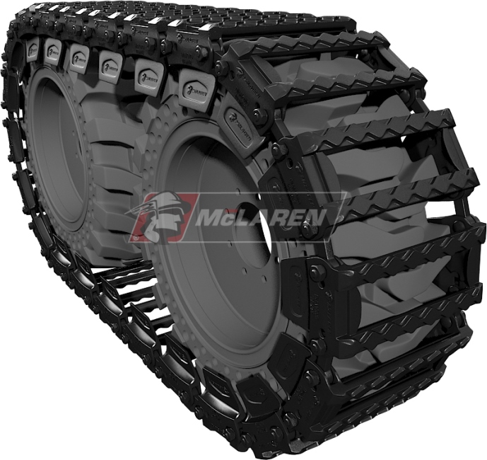 "McLaren Diamond OTT set of 2 skid steer tracks for Thomas T-183 HD (12"")"